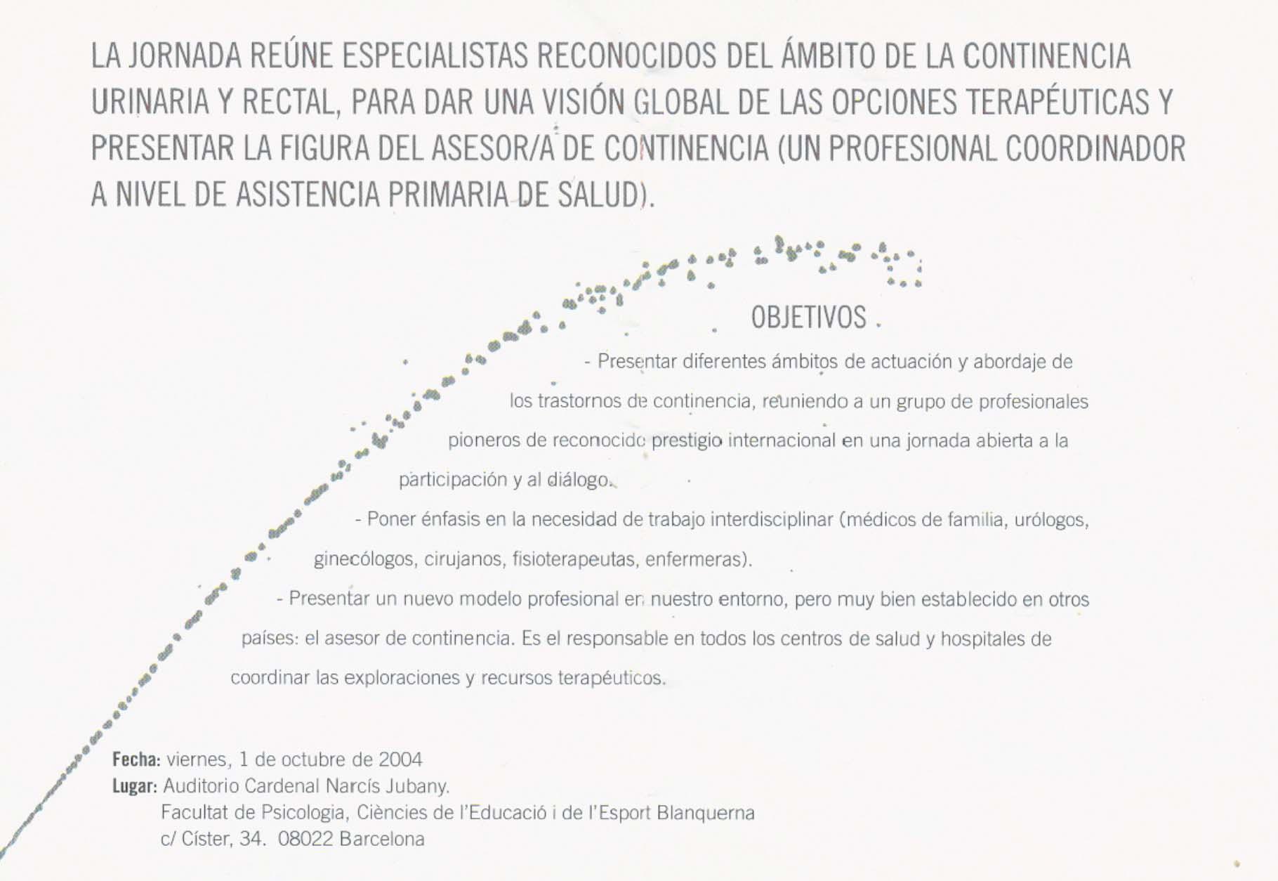 jornada multidisciplinar asociación Continentia2004