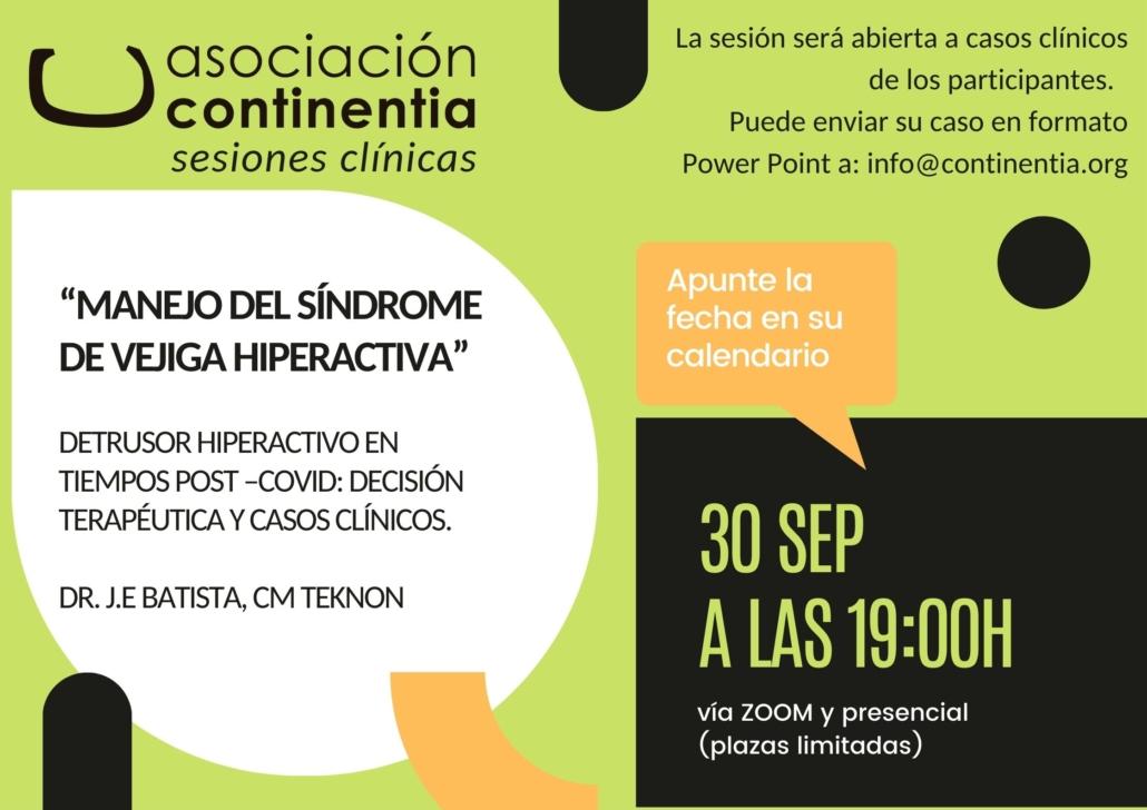 Sesiones clínicas vejiga hiperactiva